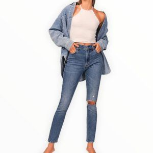 Abercrombie & Fitch High Rise Skinny Jeans Blue 27